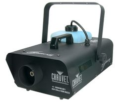Chauvet's Hurricane 1300 water-based fog machine comes with a generous capacity tank and quickly heats up water based fog to fill a venue within minutes.  Features an output of 20,000 cubic feet / minute (max).  5 minute heat up.