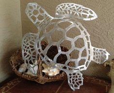 "Sea Turtle Handmade Metal Wall Hanging, aluminum, 26"" long on Etsy, $55.00"