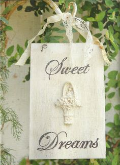 Bed & Breakfast idea: Sweet sign to hang in room or as a do not disturb sign