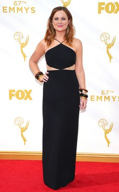 Amy Poehler from 2015 Emmys: Red Carpet Arrivals  In Michael Kors with Neil Lane jewelry
