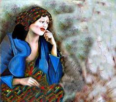 لوحة للفنانة التشكيلية السورية ياسمين القاسم 76