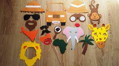 Accessoires photobooth x19 thème safari , savane mariage, anniversaire ... : Autres papeterie par stefebricole