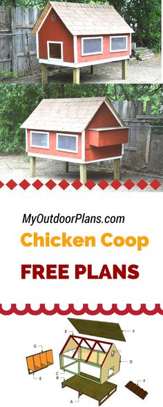 Easy to follow plans for you to build a chicken coop - If you want to learn how to build a chicken coop, you need to take a look over my step by step instructions and diagrams! myoutdoorplans.com #diy #chickencoop #chicken