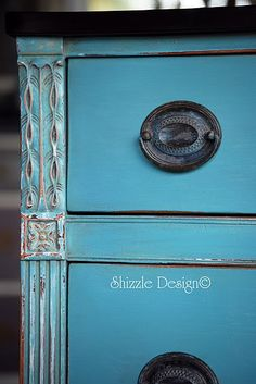 Compare chalk paint and latex: chalk paint on old furniture: I may need to try this!