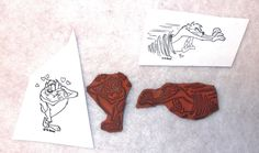 Taz Tasmanian Devil rubber stamp lot Love angry fun animation character stamps