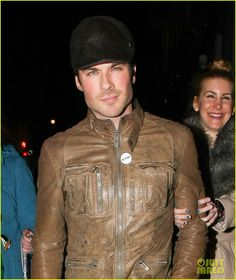 Ian Somerhalder Dines With Dad In London's Soho District !