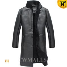 Custom Men's Shearling Sheepskin Trench Coat CW838002 Custom shearling trench coat crafted from imported natural, smooth sheepskin shearling material, classic black sheepskin coat featuring with front button closure, side hand pockets, this sheepskin coat keeps you feeling warm while looking graceful. www.cwmalls.com PayPal Available (Price: $2578.89) Email:sales@cwmalls.com