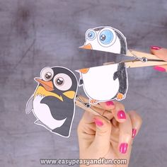 Print out our set of penguin clothespin puppets and teach your kids all there is to know about these birds that can not fly. for kids Penguin Clothespin Puppets Kids Christmas, Christmas Crafts, Fun Crafts, Diy And Crafts, Polar Animals, Young Animal, Clothespin Dolls, Paper Crafts Origami, Winter Crafts For Kids