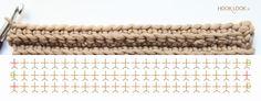 Point à côtes | HOOKLOOK. Méli-mélo d'idées en laine et au crochet.