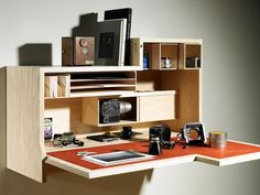 Falling Danzu Desk Folds Up and Away, Takes Up Less Space