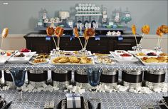 A Latke bar and buffet including unlimited apple sauces!