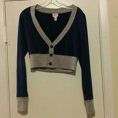 Royal Blue half cardigan Pretty blue buttons, NWOT Tops Crop Tops