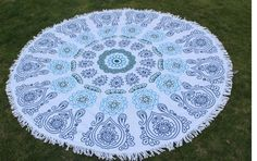 This is a brand new terry cloth Beach towel it is round and has fringes around the edges. It measures diameter. Very soft and great for beach, lake, picni Beach Towel, Beach Mat, Doilies, Outdoor Blanket, Boutique, Facebook, Products, Beach Blanket, Boutiques