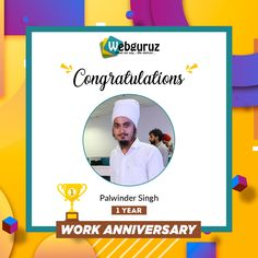 Many Congratulations, Palwinder Singh. We are grateful for your contribution and dedication to our organization. . Wishing you a happy work anniversary. . #WorkAnniversary #Anniversary #Happy #ManyMoreToCome #EmployeeAppreciation #WorkCulture #Celebrations #HappyWorkAnniversary