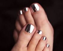 Chrome nail polish: #style #chrome