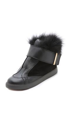 Would love to be wearing this when I am walking my posh puppy! See by Chloe sneaks with fur...love!
