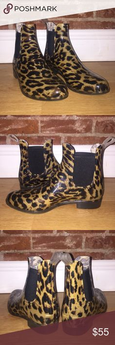 Selling this Jcrew Leopard Print Chelsea Rain Boot in my Poshmark closet! My…