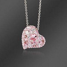 "Crystal ""Alana"" Heart Pendant Necklace ~ Swarovski"