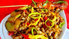 Surinaams eten – Macaroni Saté Paramaribo