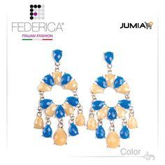 Earrings SUSY 12  Faceted drop pendant resin earrings. Beige/navy blue. 1,700.00 Ksh http://www.federicafashion.com/ep49/earrings-susy-12/ http://www.jumia.co.ke/federica-fashion/