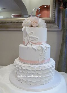 Leafing Out! - I originally designed this cake for my Annual  2012 Local Bridal Expo!