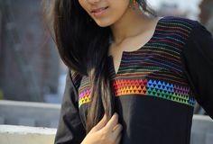 Mangalgiri kurta with multi colored embroidery