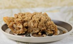 Apple Pie Recipe with Oatmeal Streusel Topping