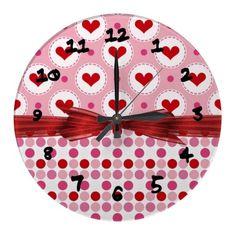 Heart Celebration Wall Clock