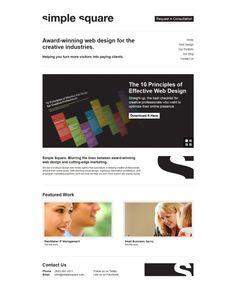 Award-Winning Web Design for the Creative Industries - Simple Square - #Webdesign #inspiration www.niceoneilike.com