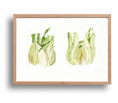 fennel Art print Fennel study Print of watercolor by TheJoyofColor