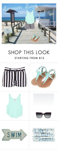 """Summer Days"" by kaitlinferreira ❤ liked on Polyvore featuring BB Dakota, Topshop, Emporio Armani, Dot & Bo, vacation, summersandals and lifeisbetteratthebeach"