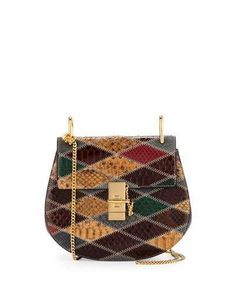 Chloe Drew Small Python Shoulder Bag, Multi  ON SALE: Was $3990.00 Reduced to: $1995.00  50% OFF