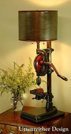 Antique Industrial Table Lamp #Topdrill @idlights
