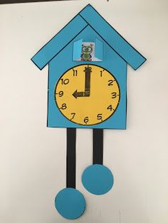 Clock For Kids, Art For Kids, Crafts For Kids, Arts And Crafts, Clock Craft, Clock Decor, Math Activities For Kids, Montessori Activities, Cardboard Crafts