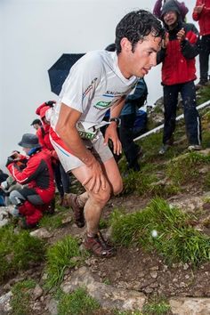 Kilian Jornet at Zegama - Team Salomon It's nice to know even he has to work to keep going =)
