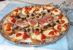 La buona cucina di Katty: Crostini misti di bauguette