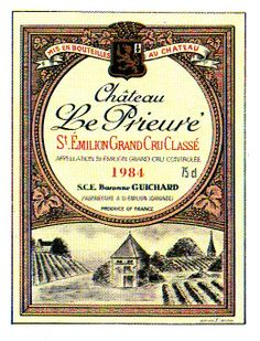Chateau Le Prieure Saint Emilion 1984 Wine Label