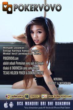 POKERVOVO adalah sebuah Permainan yang saat ini banyak disukai di INDONESIA yang sama dengan TEXAS HOLDEM POKER & DOMINO Online POKERVOVO.COM Tidak Perlu Promo ini - itu yang terpenting pelayanan LIVE CHAT & terutama Proses DEPOSIT & WITH DRAW  Super cepat dan terpercaya   POKERVOVO_Agen_poker_terpercaya_Agen_poker_terbaik_Agen_poker_terbesar_pokervovo.blogspot.com_www.pokervovo.com_model_photography_majalah_image_poster_photoshop