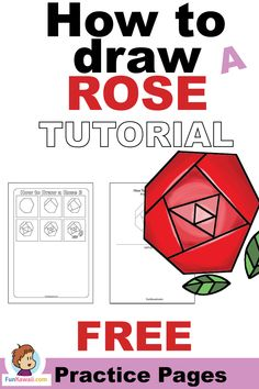 Learn very easy way of drawing a rose! Get Free printables practice sheets. Video tutorial available. Doodle For Beginners, Easy Drawings For Beginners, Easy Drawings For Kids, Drawing For Kids, Drawing Tips, Drawing Ideas, Doodle Inspiration, Inspiration For Kids, Doodle Ideas