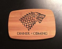 Dinner is Coming Game of Thrones Themed by WickedWoodenThings