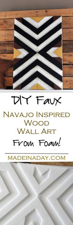 DIY Faux Wood Art fr