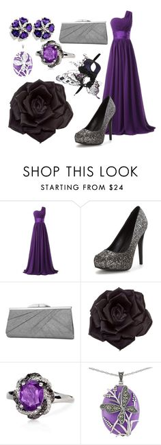 """""""Masquerade"""" by jevance ❤ liked on Polyvore featuring Jessica McClintock, Masquerade, Johnny Loves Rosie, Belk & Co. and Lord & Taylor"""