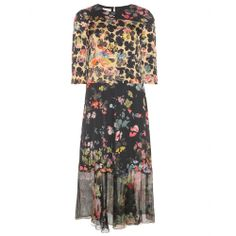 mytheresa.com - Floral-print stretch-silk midi dress - Midi & long - Dresses - Clothing - Luxury Fashion for Women / Designer clothing, shoe...