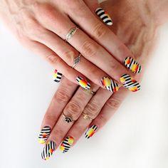 Stripes Nail Art #prom