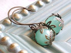 Sea Mist Earrings from linkeldesigns' etsy shop