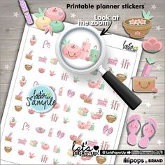 Spa Stickers Printable Planner Stickers Relax by LetsPaperUp