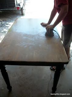 we need to refinish our dining room table