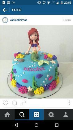 Festa infantil. Pequena Sereia. Ariel.