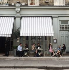 Charlotte street is a buzz with alfresco diners  santé to that!