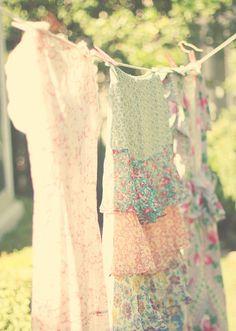 Pretty dresses on the line